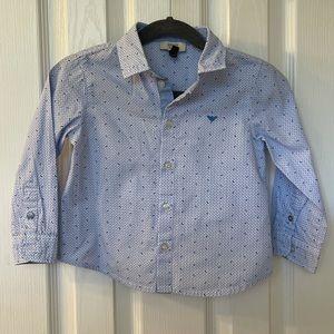 Armani Baby Boys Logo Button Up Shirt